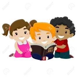 55395845-ilustración-vectorial-de-los-niños-lectura-de-la-biblia